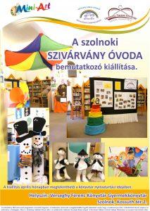 Szivárvány Óvoda kiállításának plakátja