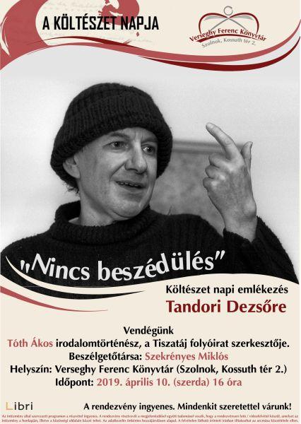 Tandori Dezső emlékest plakátja