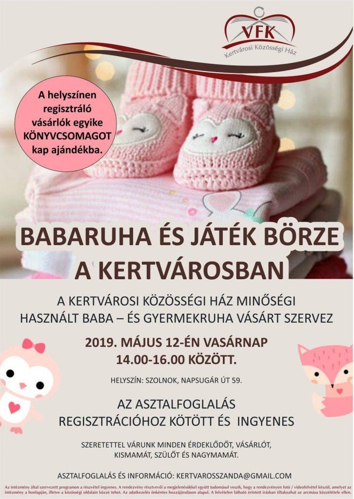 Babaruha börze plakátja