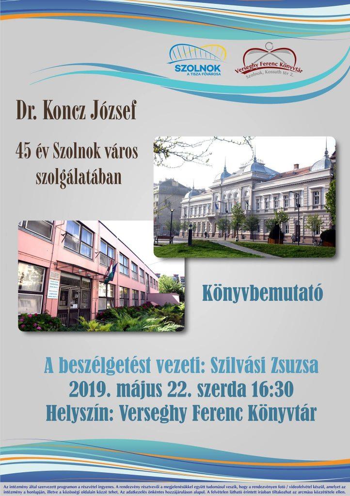 Koncz József könyvbemutatójának plakátja